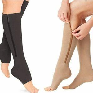 zip compression socks beige or black