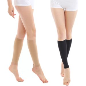pro compression calf sleeves black and skin colors one pair